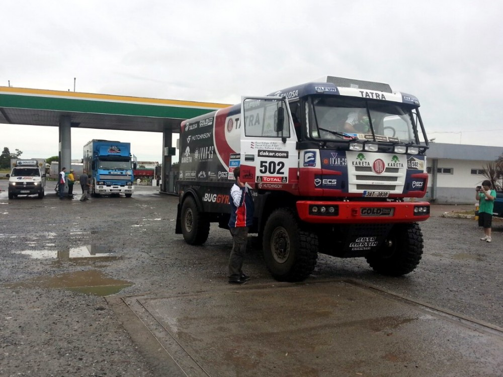 Heavy Downpour Welcomed Dakar Crews