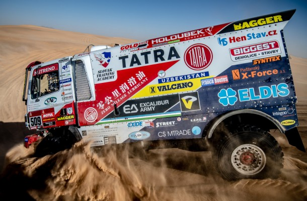 Šoltys finished 8th in Truck category, Macháček crashed